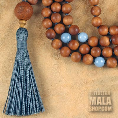 sandalwood tassel necklace