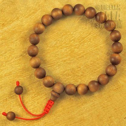 sandalwood wrist mala beads