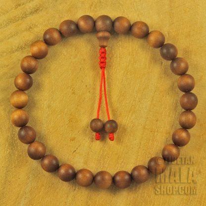 sandalwood wrist mala 27 beads