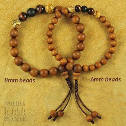 sandalwood wrist malas 6mm beads 8mm beads