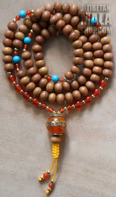 sandalwood yoga beads