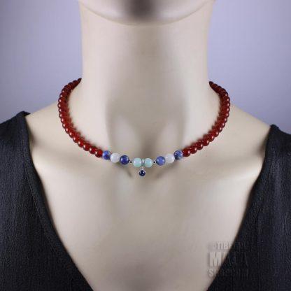 september birthstone choker necklace