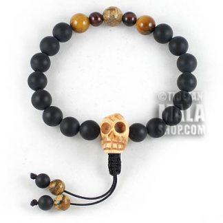 skull mala bracelet