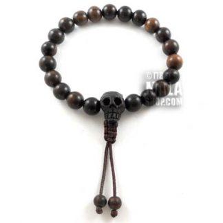 skull wrist mala beads