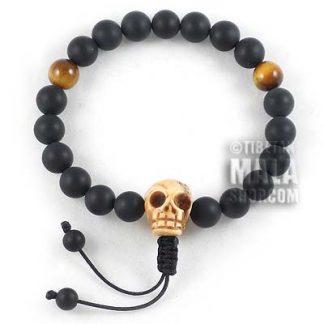 skull wrist mala bracelet