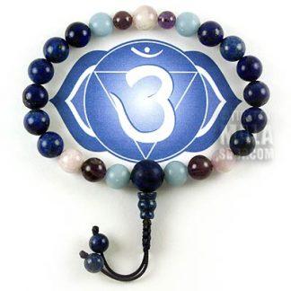 third eye chakra mala bracelet
