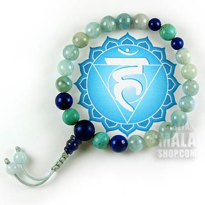 throat chakra mala bracelet