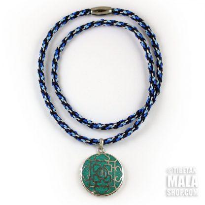 tibetan om mandala necklace