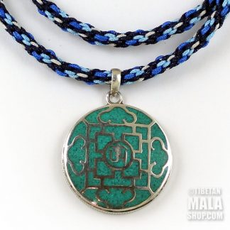 tibetan om mandala pendant