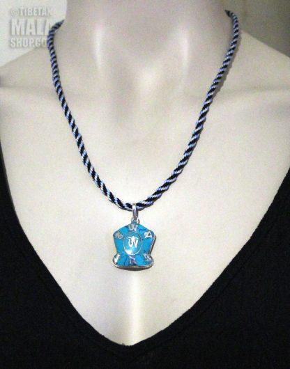 tibetan om mani necklace length
