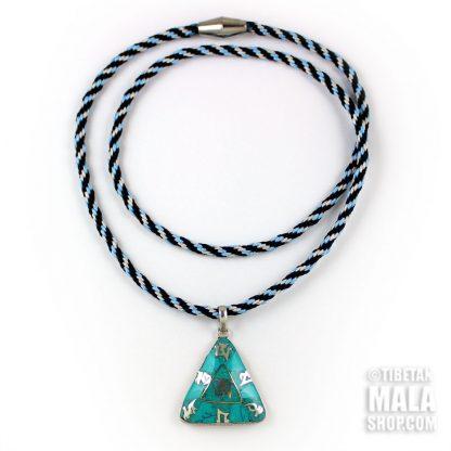 tibetan om mani padme necklace