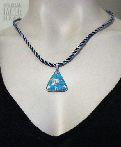 tibetan om mani padme necklace length