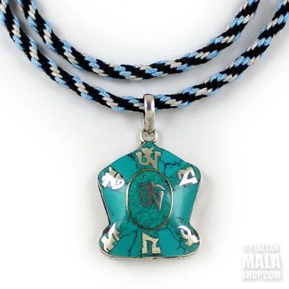 tibetan om mani pendant