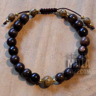 tiger ebony beaded bracelet