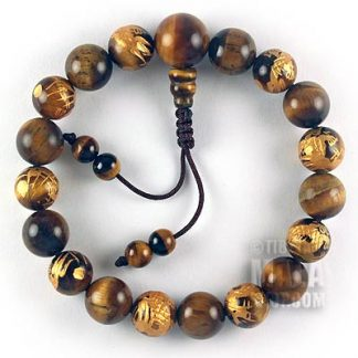 tiger eye dragon mala bracelet