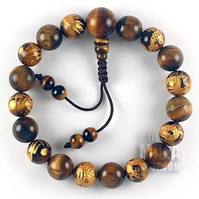 tiger eye dragon mala bracelet