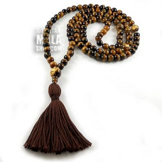 tigers eye buddhist mala beads