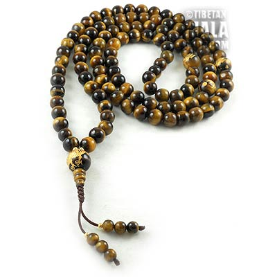 tigers eye with dragon mala beads