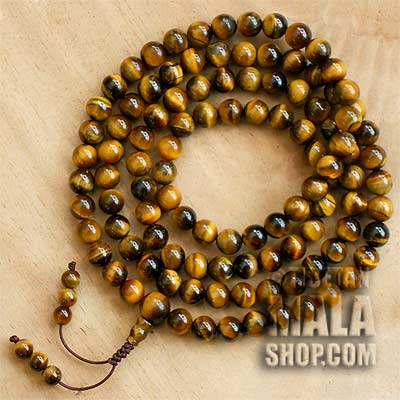tigers eye mala beads