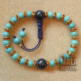 turquoise bracelet mala