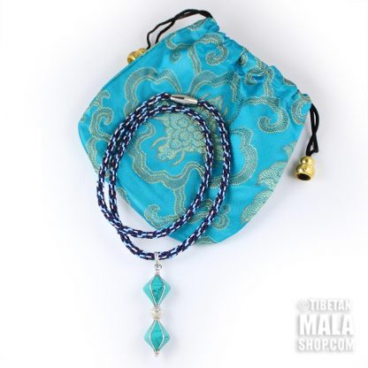 turquoise dorje necklace with gift bag