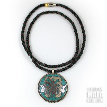 turquoise endless knot necklace