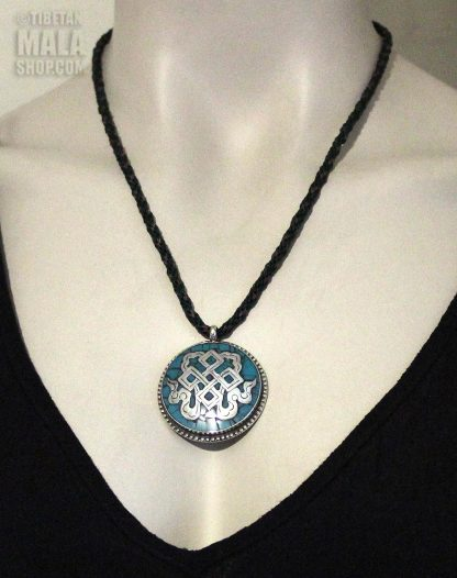 turquoise endless knot necklace length