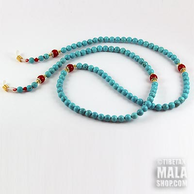turquoise glasses cord