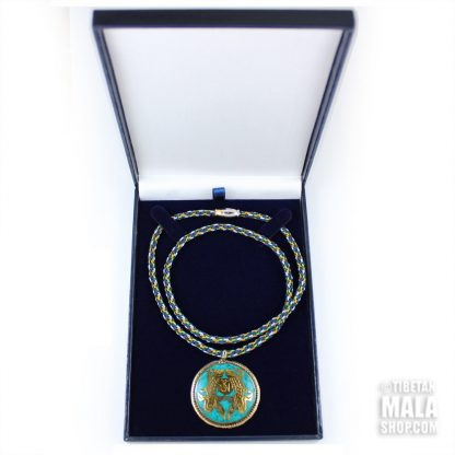 turquoise golden fish necklace gift box