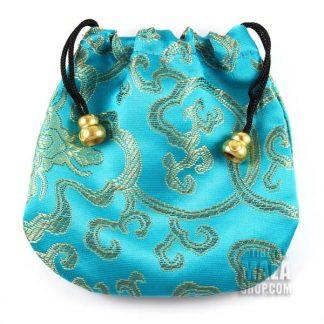 turquoise lotus mala bag