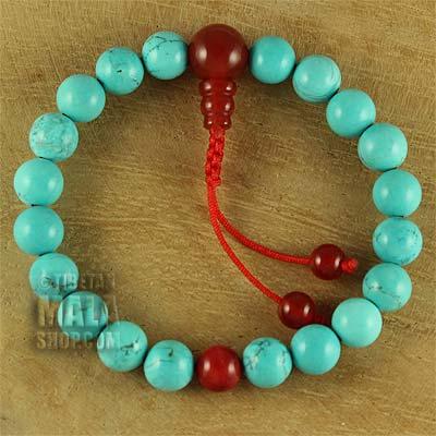 turquoise wrist mala