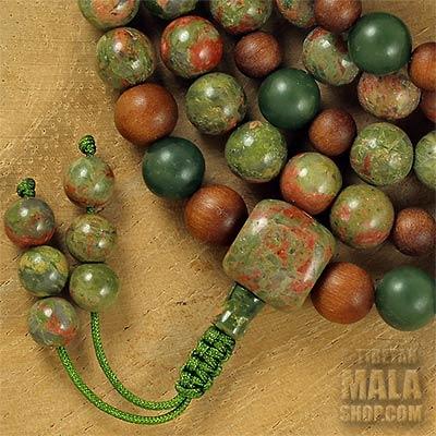 unakite mala beads