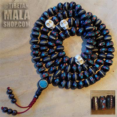 yak bone mala beads